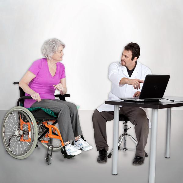 Rollstuhl Druckmessung